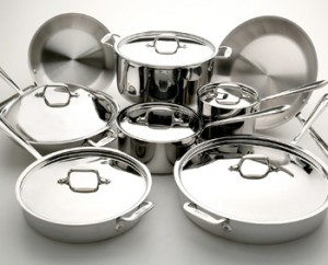 Stainless steel cookware (All Clad)
