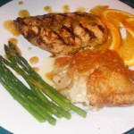 Grilled Chicken with Orange Ginger Glaze